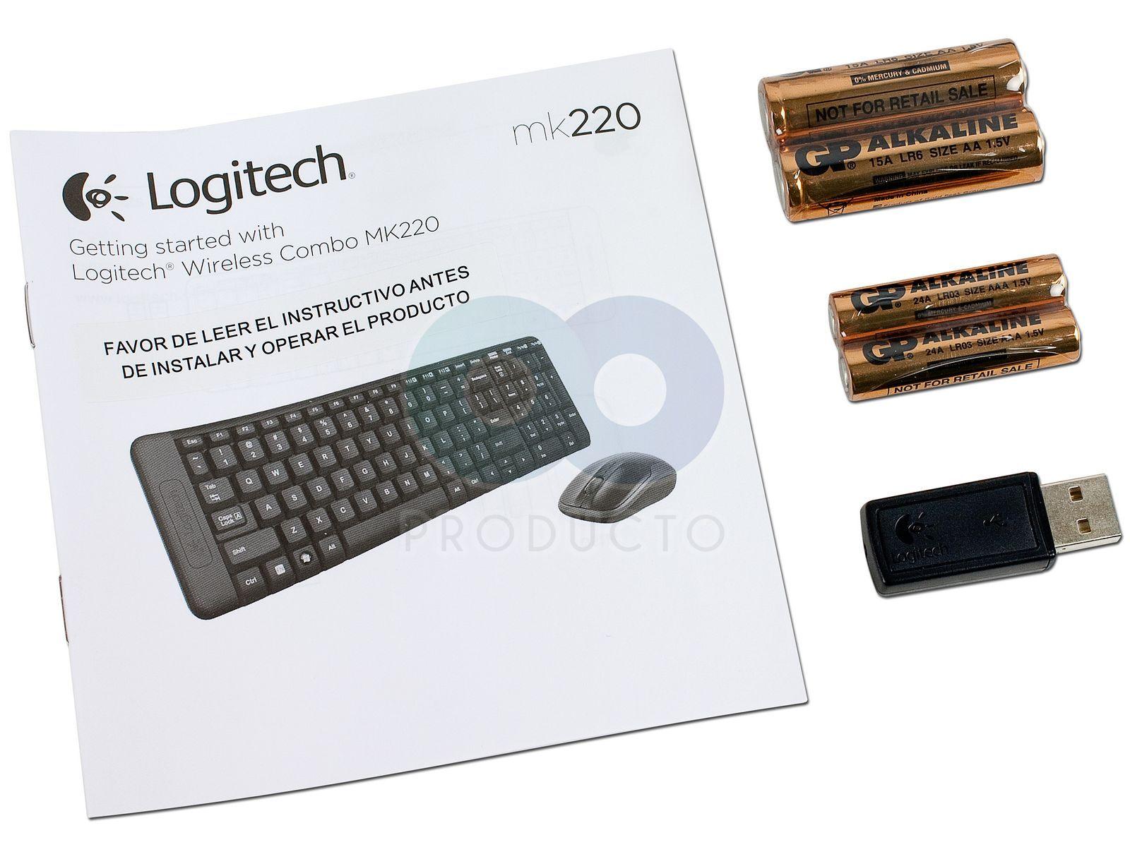 Teclado Y Mouse Logitech Wireless Combo Mk220 Usb Keyboard