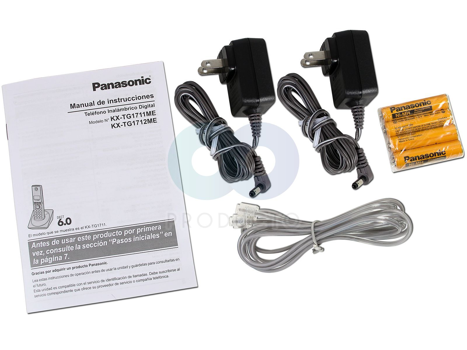 Teléfono Inalámbrico Panasonic con Identificador de llamadas, Tecnología  DECT 6.0 y 50 números en memoria