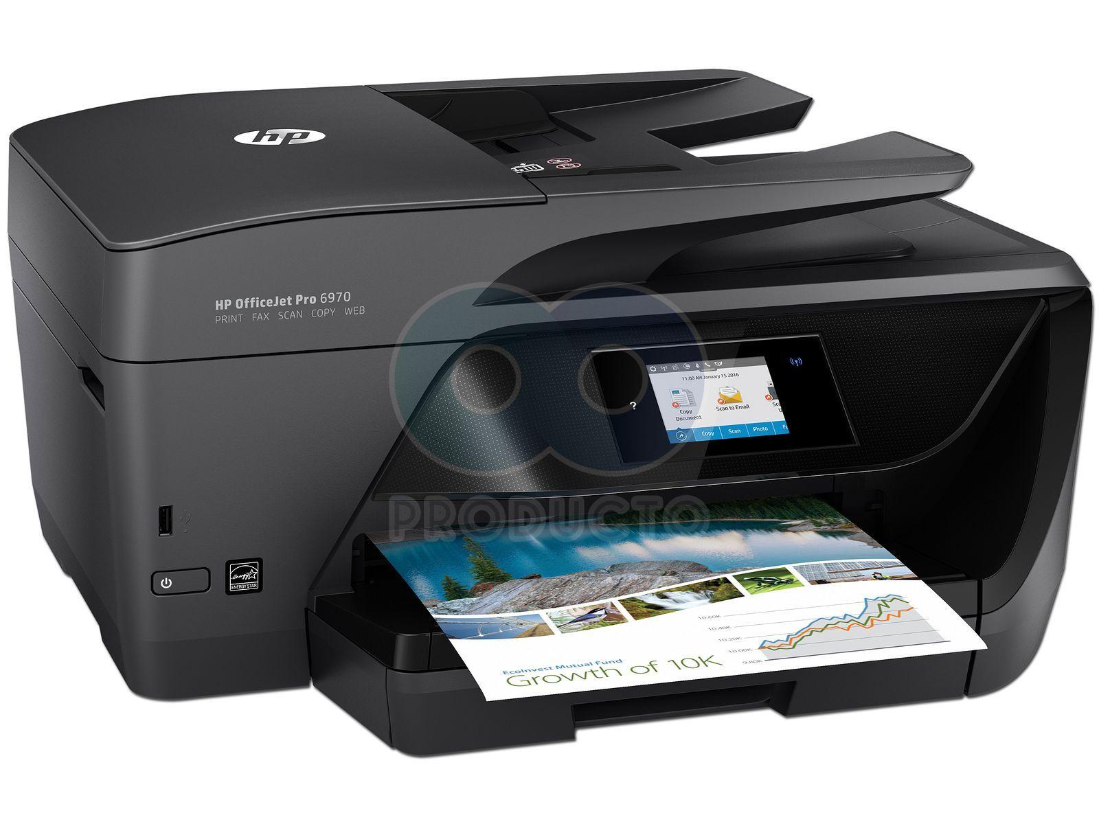 Multifuncional de Inyección de Tinta a Color HP OfficeJet Pro 6970 ...