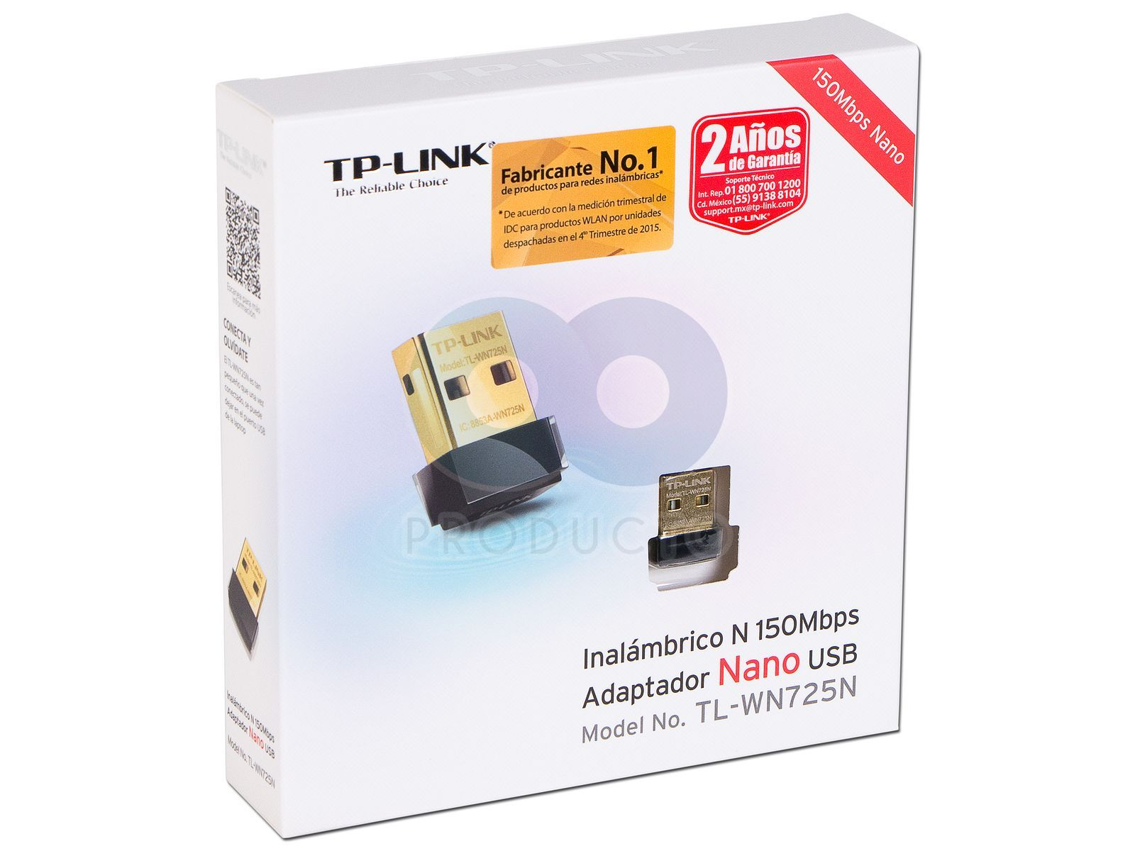 Adaptador Nano Usb Tp Link Wireless N De Hasta 150 Mbps Tl Wn725n 150mbps Wifi Adapter