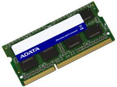 Memoria ADATA SODIMM DDR3 PC3-10600 (1333MHz), 4 GB.