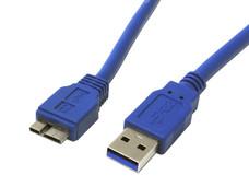 Cable 30cm USB 3.0 Super Speed SS USB A Macho a Micro USB B Macho Adaptador - Azul