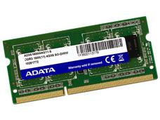 Memoria ADATA SODIMM DDR3 PC3-12800 (1600MHz), 4 GB.