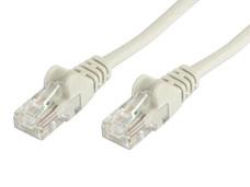 Cable de red, Cat5e, UTP RJ-45 Macho / RJ-45 Macho, 1.0 m, Gris