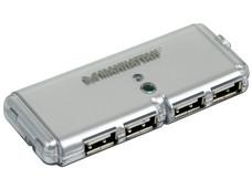 Hub USB Manhattan de 4 Puertos (Convierte 1 puerto USB en 4).