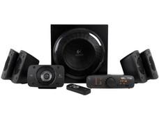 Bocinas Logitech Z906 Digital, Auténtico Sonido 5.1 Dolby Digital y DTS, Certificación THX, 500 Watts RMS de Poder total.