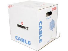Bobina de Cable Cat6 (UTP) Caja con 305 m, Gris, 23 AWG, Sólido
