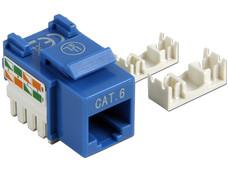 Intellinet Jack categoría 6, UTP, azul, de impacto