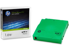 Cartucho de datos regrabable HP LTO4 Ultrium RW de 1.6TB.