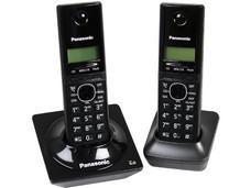 Teléfono Inalámbrico Panasonic con Identificador de llamadas, Tecnología DECT 6.0 y 50 números en memoria, 2 Handset.