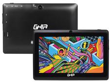 Tablet GHIA Any QUATTRO Bt (47418N): Procesador Cortex A33 Quad Core (1.5GHz), Memoria Ram de 1GB, Almacenamiento Interno de 8GB, Pantalla de 7
