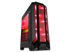Gabinete EAGLE WARRIOR Gaming ROBOT Q Rojo, ATX, (sin fuente de poder).