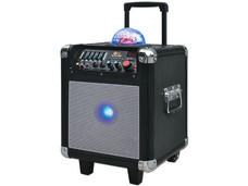 Bocina Party Mini QFX PBX-507100BT de 2000 Watts, Batería recargable, Radio FM, USB/SD.