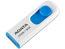 Unidad Flash USB 2.0 ADATA Classic C008 de 8 GB. Color Blanco