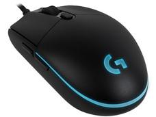 Mouse Gamer Logitech Pro, 200 – 12,000 dpi, 6 botones e iluminación RGB programables, USB 2.0.