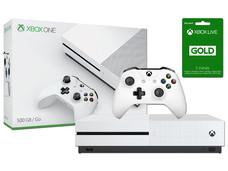 Consola Xbox One S de 500 GB con 3 meses de Xbox Live Gold. Color Blanco