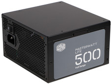 Fuente de Poder Cooler Master MasterWatt Lite de 500W, ATX, 80 PLUS Certified.