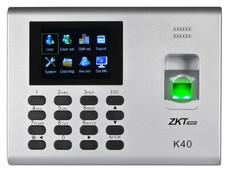 Control de acceso ZKTeco K40 de hasta 1,000 huellas y 80,000 registros.