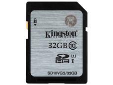 Memoria Kingston SDHC U1 de 32 GB, Clase 10.