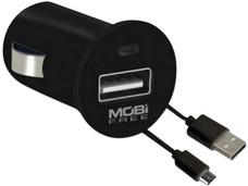Kit USB Cargador para Carro Mobifree MB-01066,  Negro