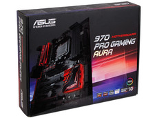 T. Madre ASUS 70 PRO GAMING/AURA, Chipset AMD 970, Soporta: FX/ Phenom / Athlon /Sempron 100 Series, Socket AM3+, Memoria: 2133(OC)/1866/1600/1333/1066 MHz, 32GB max, Integrado: Audio HD, Red Gigabit, SATA 3.0, USB 3.1, ATX, Ptos: 2xPCIEx16, 2xPCI.