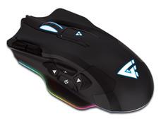 Mouse Gamer GAME FACTOR MOG600, Láser de hasta 8200 dpi con 10 botones programables, RGB, USB.
