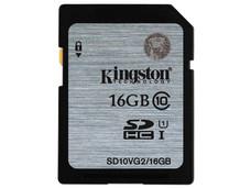 Memoria Kingston SDHC UHS-I U1 de 16 GB, clase 10.