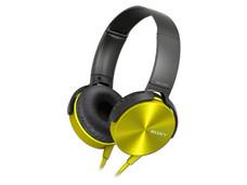 Audífonos con micrófono SONY Extra Bass XB450AP, respuesta de frecuencia 5–22000 Hz.