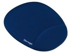 Mouse Pad Vorago MP-100 con reposa muñecas de Gel, Color Azul.