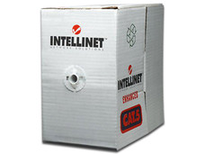 Bobina de Cable Intellinet Cat5e (UTP) Caja con 100 m, Color Gris