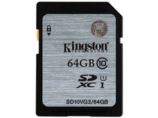 Memoria Kingston SDXC UHS-I U1 de 64 GB, clase 10.