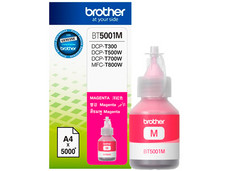 Botella de Tinta Brother, color Magenta, Modelo: BT-5001M, Alto Rendimiento.