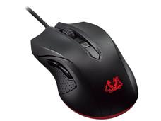Mouse Gamer ASUS Cerberus de hasta 2500 dpi con 6 botones.