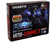 T. Madre Gigabyte H170-Gaming 3, Chipset Intel H170 Exp., Soporta: Core i7 / i5 de 6ta Gen., Socket 1151, Memoria: DDR4 2133 MHz, 64GB Max, Integrado: Audio HD, Red, USB 3.0 y SATA 3.0, ATX, Ptos: 2xPCIE 3.0 x16, 2xPCIE 3.0 x1. 2xPCI.