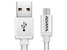 Cable ADATA USB 2.0 macho/MicroUSB macho de 1m. Color Plata.