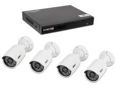 Kit de vigilancia Provision ISR con 1 DVR SA-4100AHD-2L  con 4 canales Híbrido, 4 cámaras tipo bala, 4 cables siamés de 20m, 1 fuentes de poder y un divisor de energía.
