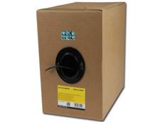 Rollo Bobina de 304.8m de cable de Red sólido Bulk a granel UTP Cat5e negro certificado CMR (Riser).