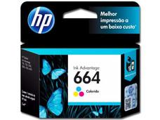 Cartucho de Tinta HP 664 Tricolor, Modelo: F6V28AL.