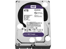 Disco Duro para videovigilancia Western Digital Purple de 4 TB, RPM de vigilancia, 64MB, SATA III (6 Gb/s).