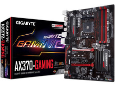 T. Madre Gigabyte GA-AX370-Gaming, Chipset AMD x370, Soporta: Procesador AMD 7th Generación A-series / Athlon de Socket AM4, Memoria: DDR4 3200(O.C.)/ 2133 MHz, 64GB Max, Integrado: Audio HD, Red, USB 3.1 y SATA 3.0, ATX, Ptos: 1xPCIEx16, 1xPCIEx4