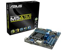 T. Madre ASUS M5A78L-M/USB3, Chipset AMD 760G, Soporta: FX/ Phenom II/ Athlon II/ Sempron 100, Socket AM3+, Memoria: DDR3 2000(O.C.)/1333/1066MHz, 32GB Max, Integrado: Video RADEON HD 3000, USB 3.0 y SATA 3.0 Micro-ATX, Ptos: 1xPCIEX16, 1xPCIEX1
