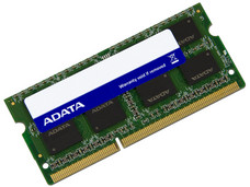 Memoria ADATA SODIMM DDR3L PC3-12800 (1600MHz), 8 GB.
