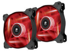 Ventilador de 120 mm de flujo elevado Air Series AF120 LED Red Quiet Edition — Paquete Doble
