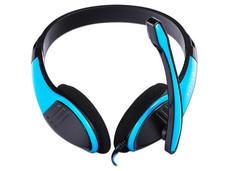 Audífonos tipo diadema NACEB NA-589AZ con micrófono. Color Azul.
