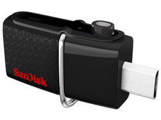 Unidad Flash USB 3.0/MicroUSB Sandisk Ultra Dual OTG de 32 GB.
