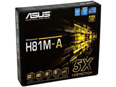 T. Madre ASUS H81M-A, Chipset Intel H81 Exp., Soporta: Core i7/i5/i3 de Socket 1150, Memoria: DDR3 1600/1333/1066 MHz, 16 GB Max, Integrado: Audio HD, Red, USB 3.0 y SATA 3.0, Micro-ATX, Ptos: 1xPCIEx16, 2xPCIEX1
