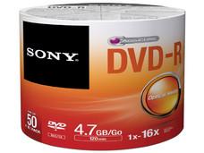 Paquete de 50 DVD-R Sony de 4.7 GB, 16x.