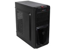 Gabinete KMEX CM3502 con fuente de 450W, Micro-ATX, Color Negro.