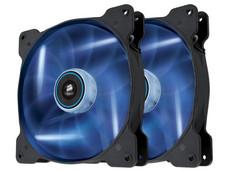 Paquete de 2 Ventiladores Corsair AF120 Quiet Edition, 120 mm, LED Azul, 1500 RPM, 2.5 dBA.