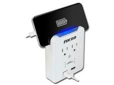 Regulador Forza 6500A/1875W con 2 contactos NEMA 5-15P, 2 USB.